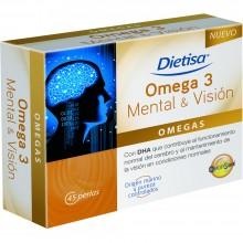 Dietisa - Omega 3 Mental y Visión | Nutrition & Santé | 45 cápsulas | Aceite de pescado | Omegas