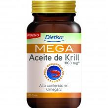 Dietisa - Omega 3 Mega Aceite de Krill | Nutrition & Santé | 60 cápsulas | Aceite de Crustáceo Krill | Omegas