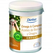 Dietisa - Omega 6 Complex | Nutrition & Santé | 90 cápsulas | Aceite de Onagra y Hierro | Omegas