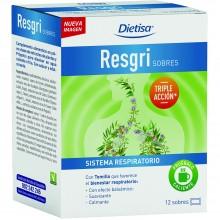 Dietisa - Resgri Sobres | Nutrition & Santé | 12 sobres | Extractos de plantas y Própolis | Sistema Respiratorio